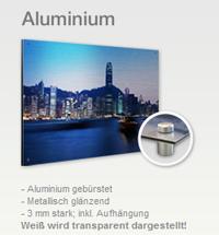 Sie sehen ein XXL-Bild auf gebürstetem Aluminium